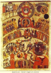The last judgment icon _judgment sunday